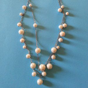 Always Classic Two Strand Faux Pearl Necklace
